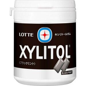 ロッテ商事 キシリトールガム ブラックミント ファミリーボトル 143g