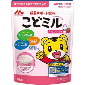 森永乳業 こどミル いちごミルク味 216g