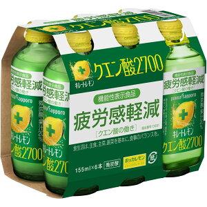 ポッカコーポレーション キレートレモン クエン酸2700 155ml×6本