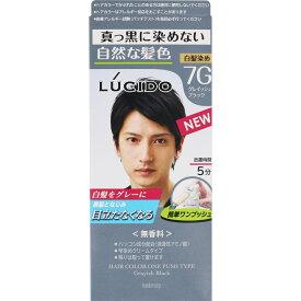 マンダム ルシード ワンプッシュケアカラー グレイッシュブラック 100g (医薬部外品)