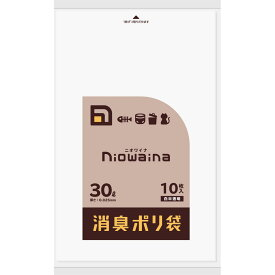 日本サニパック ニオワイナ消臭袋 白半透明 30L 10枚