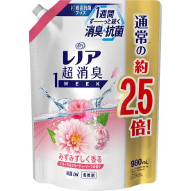 P&Gジャパン レノア超消臭1week フローラルフルーティーソープ詰替特大 980mL
