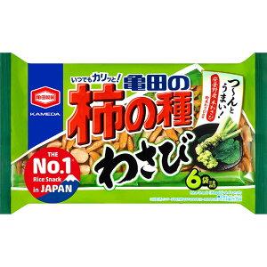 亀田製菓 亀田の柿の種わさび6袋詰 173g