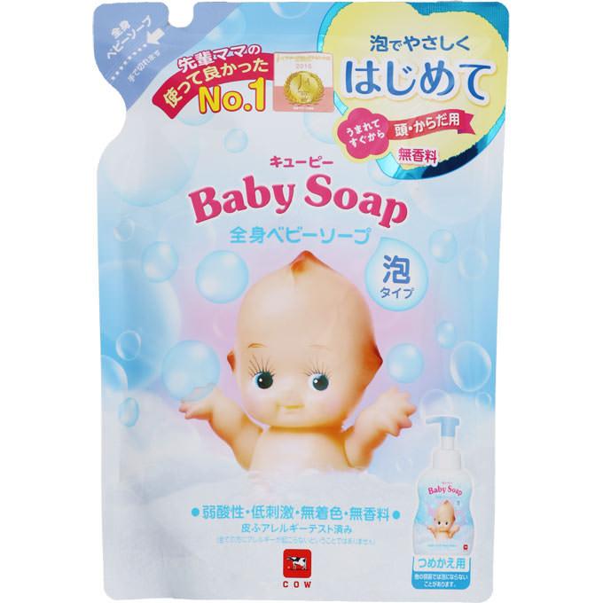 牛乳石鹸共進社 キューピー 全身ベビーソープ[泡タイプ] 詰替用 350ml