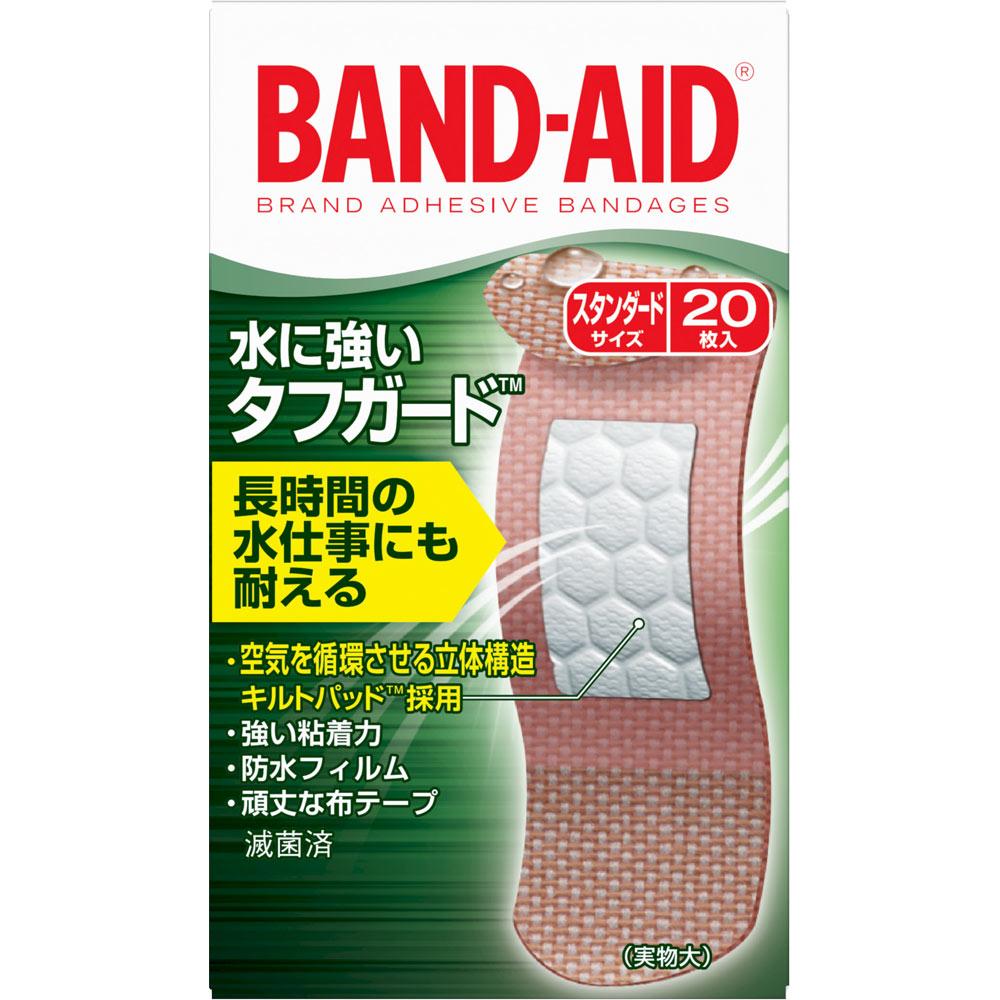 ジョンソン・エンド・ジョンソン 「バンドエイド」 救急絆創膏 水に強いタフガード 20枚
