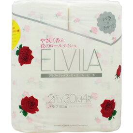 四国特紙 エルビラ(バラの香り) トイレットロール ダブル 4R×30m