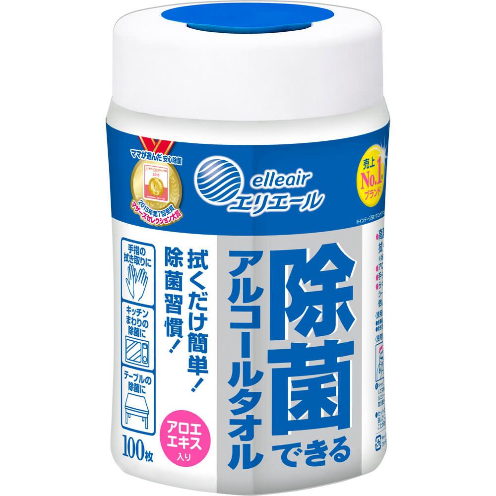 大王製紙 エリエール除菌できるアルコールタオル本体 100枚