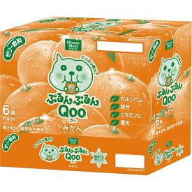 日本コカ・コーラ ミニッツメイド ぷるんぷるんQooみかん 125G×6【point】