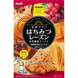 アサヒグループ食品株式会社 バランスアップ 玄米ブラン はちみつレーズン 3枚×5袋