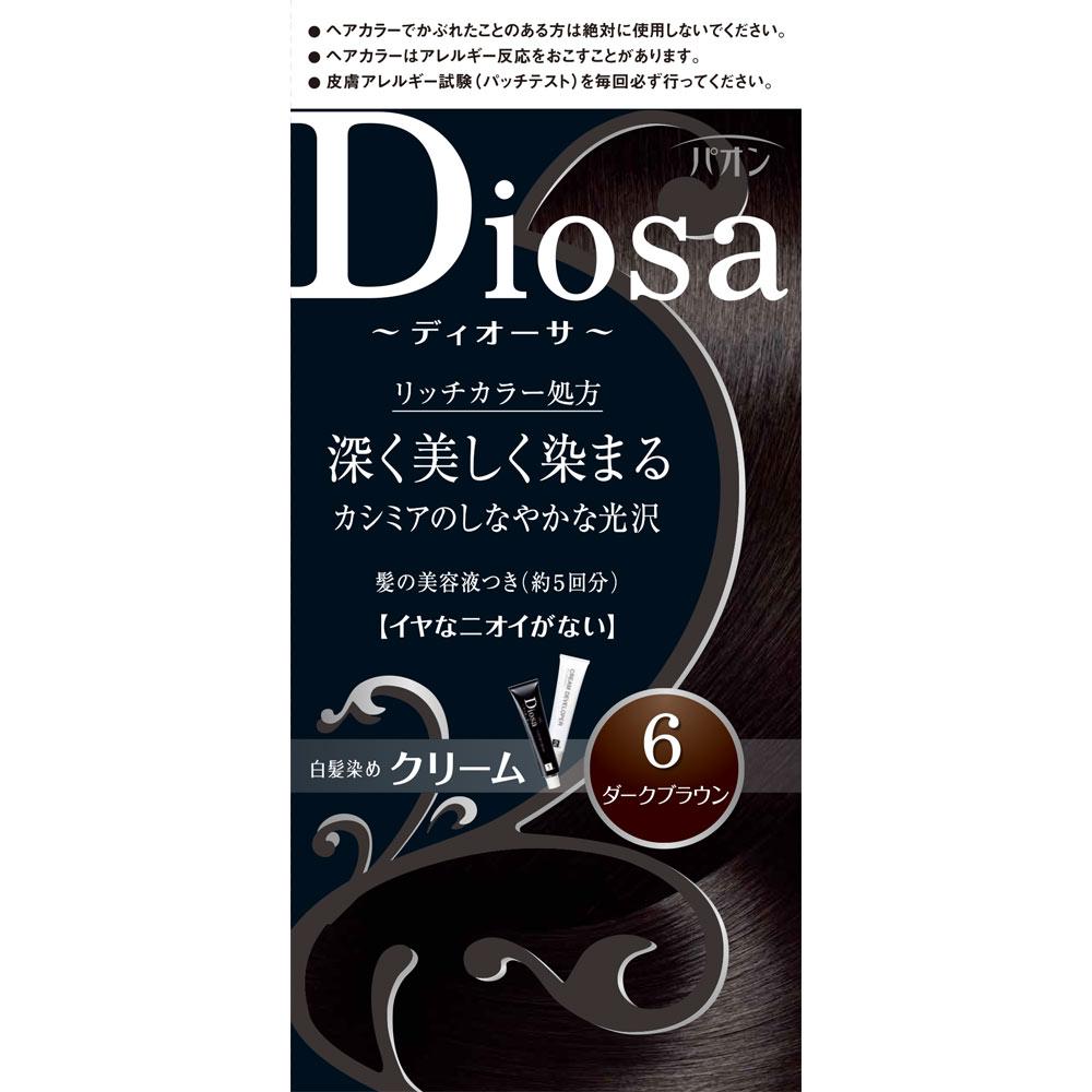 ヘンケルライオンコスメティックス パオン ディオーサ クリーム 6 ダークブラウン 40g+40g+10g (医薬部外品)