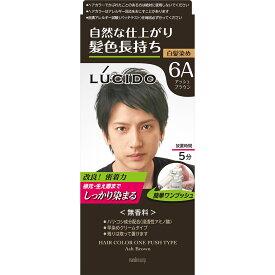 マンダム ルシード ワンプッシュケアカラー 6A アッシュブラウン 1剤50g・2剤50g (医薬部外品)