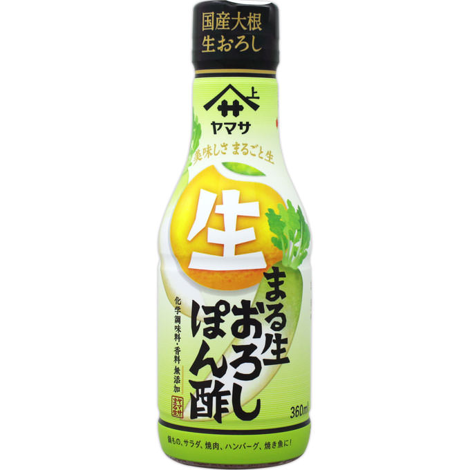 ヤマサ醤油 まる生おろしぽん酢 360ML