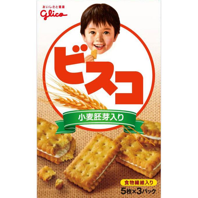 江崎グリコ ビスコ(小麦胚芽入り) 15枚