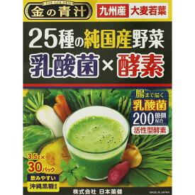 日本薬健 金の青汁25種の国産野菜 乳酸菌×酵素 30包