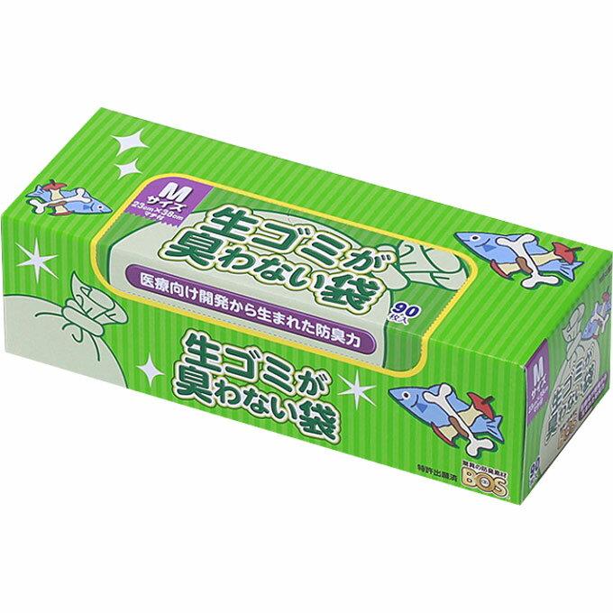 クリロン化成 生ゴミが臭わない袋BOS生ゴミ用箱型 Mサイズ 白色 90枚