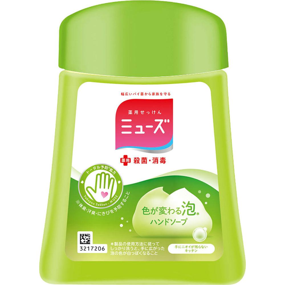 レキットベンキーザー・ジャパン ミューズ ノータッチ泡ハンドソープ ボトル キッチン(つめかえ用) 250ML (医薬部外品)