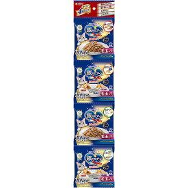 ユニ・チャームペットケア 銀のスプーン 海の贅沢素材 毛玉ケア まぐろ・かつお・白身魚に天然小魚・かつお節添え 40g*4連パック
