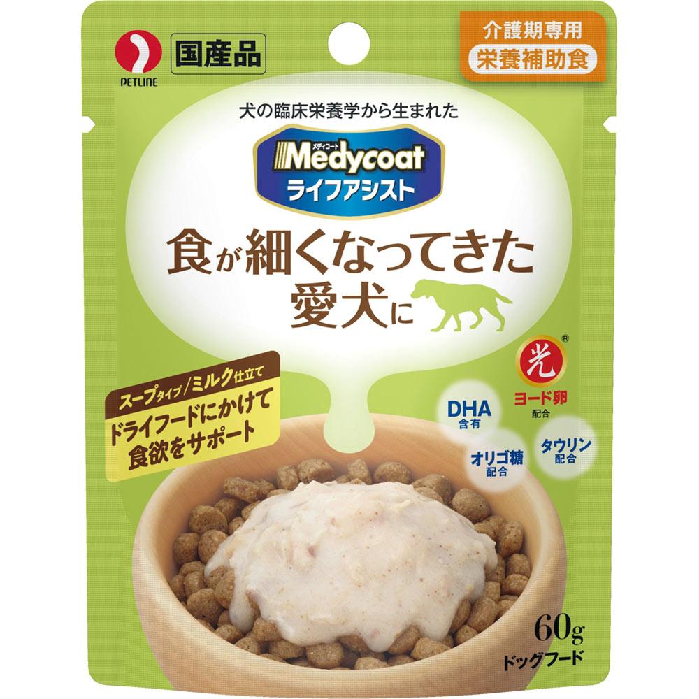 ペットライン メディコート (ライフアシスト) スープタイプ ミルク仕立て 60g