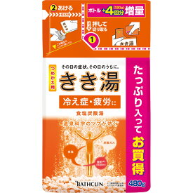 バスクリン きき湯食塩炭酸湯つめかえ用 480g (医薬部外品)