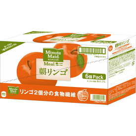 日本コカ・コーラ ミニッツメイド 朝リンゴ 180g×6