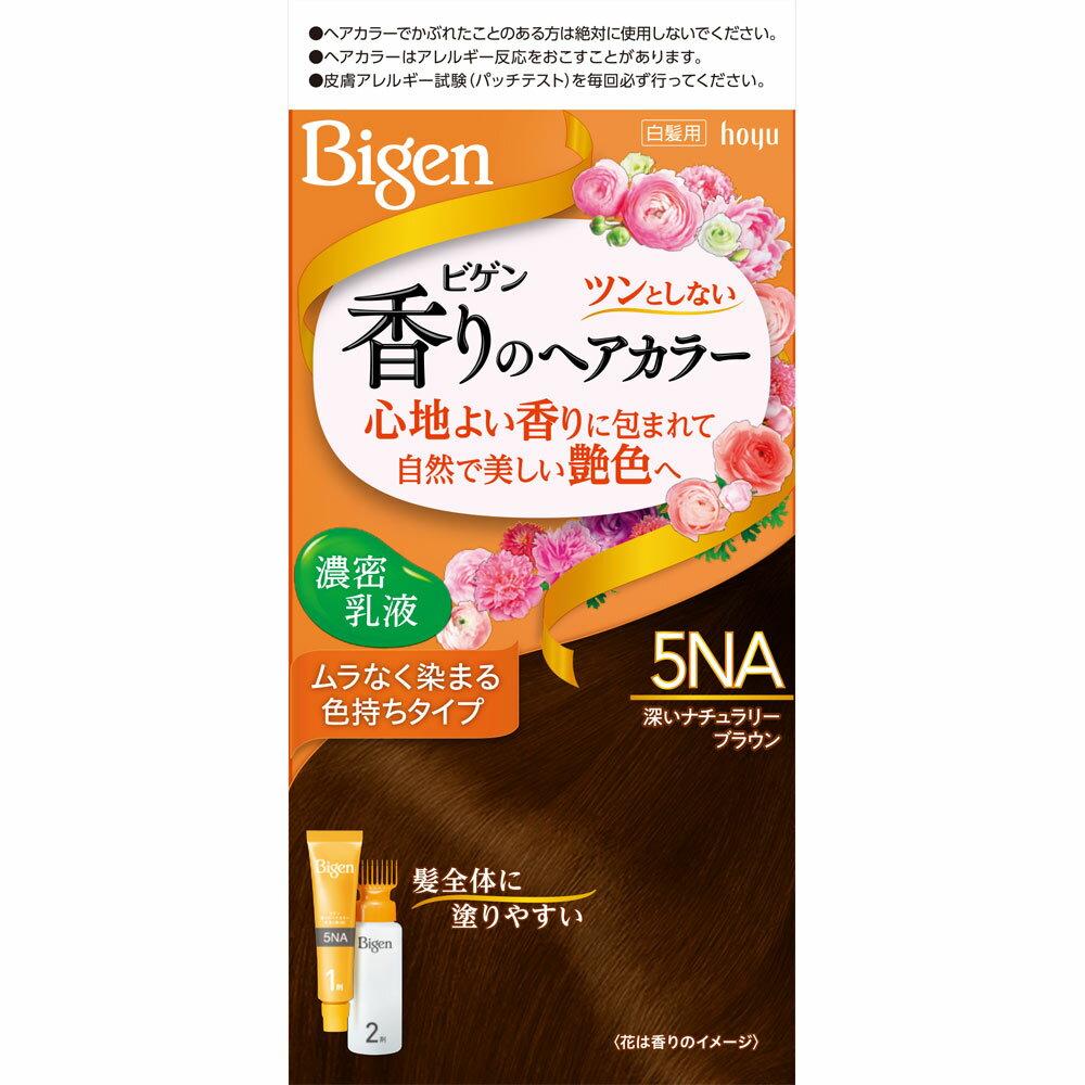 ホーユー ビゲン 香りのヘアカラー 乳液 5NA 深いナチュラリーブラウン (医薬部外品)