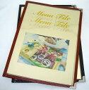 メニューブック A4 6ページ2つ折り 10冊入り 送料無料
