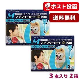 【A】【送料無料】マイフリーガードα犬用 M 10-20kg用 3本入 2箱セット【動物用医薬品】