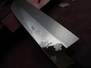 源泉正[IZUMIMASA]白鋼本焼桜花鏡面仕上柳刃包丁9寸(270mm)