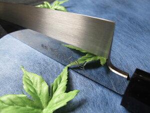 青鋼本焼鏡面仕上鎌形薄刃包丁7寸(210mm)