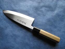 青鋼本霞出刃包丁6寸(180mm)