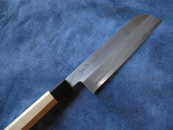 青鋼本霞鎌形薄刃包丁7寸(210mm)