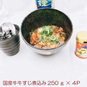 国産牛すじ煮込み250g×4 おつまみ おかず 惣菜 ぼっかけ お酒に合うおつまみ