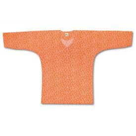 江戸一 子供用 鯉口シャツ 小紋 オレンジ祭素材:綿100%サイズ:4号、5号