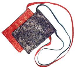 手振鉦袋 単品赤金蘭・紺金蘭