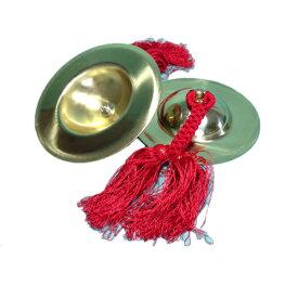 手振鉦(チャッパ)手振鐘5寸赤房付き<送料無料>サイズ 手振鉦:5寸 直径15cm