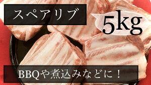 豚肉 スペアリブ 骨付き肩バラ ブロック メキシコ産 冷凍品 5kg (送料別)