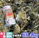 あす楽対応!牡蠣 SS4kg(約80粒)クール便送料無料!宮城県産 殻付き 牡蠣 殻付き 無選別牡蠣 牡蠣 殻付 カキ 加熱用…