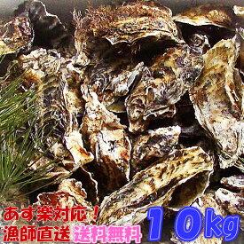 あす楽対応!牡蠣 10kg(約135粒)送料無料!宮城県産 殻付き 牡蠣 殻付き 無選別牡蠣 牡蠣 殻付 カキ 加熱用 一年子 松島牡蠣屋 お花見にGWBBQに父の日母の日バーベキューに