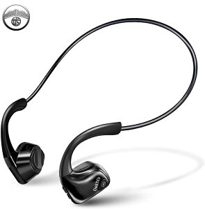 Bluetooth イヤホン 骨伝導イヤホン ワイヤレスイヤホン 骨伝導 イヤホン ワイヤレス ヘッドホン 無線 耳掛け式 両耳用 高音質 こつでんどう 通話 音楽 スポーツ 超軽量 29g マイク内蔵 ブルート