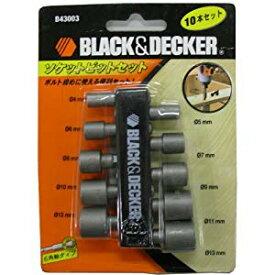 ソケットビット 10本セット ブラック・アンド・デッカー B43003