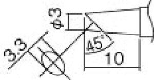 こて先 3BC型(Z) 面のみ 白光 T12-BCF3Z