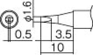 こて先 1.6D型 白光 T12-D16