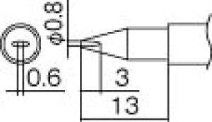 こて先 0.8DL型 白光 T12-DL08