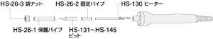 交換部品(HS-26-230用) ヒーター ホーザン HS-130-230