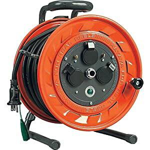 単相100V型コードリール 3.5スケア電線 30m アース付 ハタヤリミテッド LP-331K