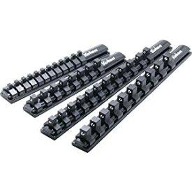 アルミソケットレール 3/8(9.5mm)クリップ8ヶ付き コーケン RSAL200-3/8X8