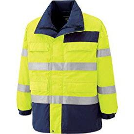 高視認性 防水帯電防止防寒コート イエロー 3L ミドリ安全 SE1124-UE-3L