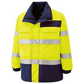 高視認性 防水帯電防止防寒コート イエロー 4L ミドリ安全 SE1124-UE-4L