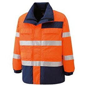 高視認性 防水帯電防止防寒コート オレンジ M ミドリ安全 SE1125-UE-M