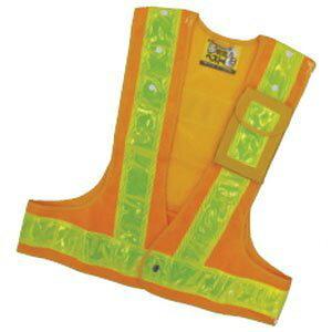 多機能安全ベスト(ポリス型) 黄/黄反射 フリーサイズ ポケット3箇所付 日本緑十字社 No.238084